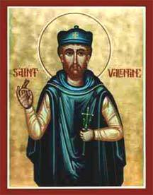 Painting of saint Valentine
